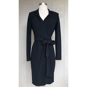 Max Mara | Black Wrap Long Sleeve Dress